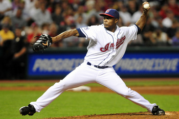 CLEVELAND, OH - JUNE 17:  Tony Sipp #46 of the Cleveland Indians pitches during the ninth inning against the Pittsburgh Pirates at Progressive Field on June 17, 2011 in Cleveland, Ohio. The Indians defeated the Pirates 5-1. (Photo by Jason Miller/Getty Im