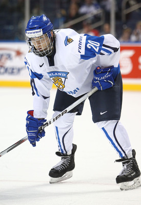 BUFFALO, NY - DECEMBER 31: Forward Joel Armia #20 of Finland during the 2011 IIHF World U20 Championship game between Slovakia and Finland on December 31, 2010 at HSBC Arena in Buffalo, New York. (Photo by Tom Szczerbowski/Getty Images)