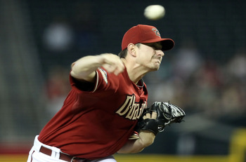 PHOENIX, AZ - JUNE 01:  Starting pitcher Daniel Hudson #41 of the Arizona Diamondbacks pitches against the Florida Marlins during the Major League Baseball game at Chase Field on June 1, 2011 in Phoenix, Arizona.  (Photo by Christian Petersen/Getty Images