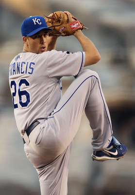 ANAHEIM, CA - JUNE 10:  Jeff Francis #26 of the Kansas City Royals pitches against the Los Angeles Angels of Anaheim at Angel Stadium of Anaheim on June 10, 2011 in Anaheim, California.  (Photo by Jeff Gross/Getty Images)