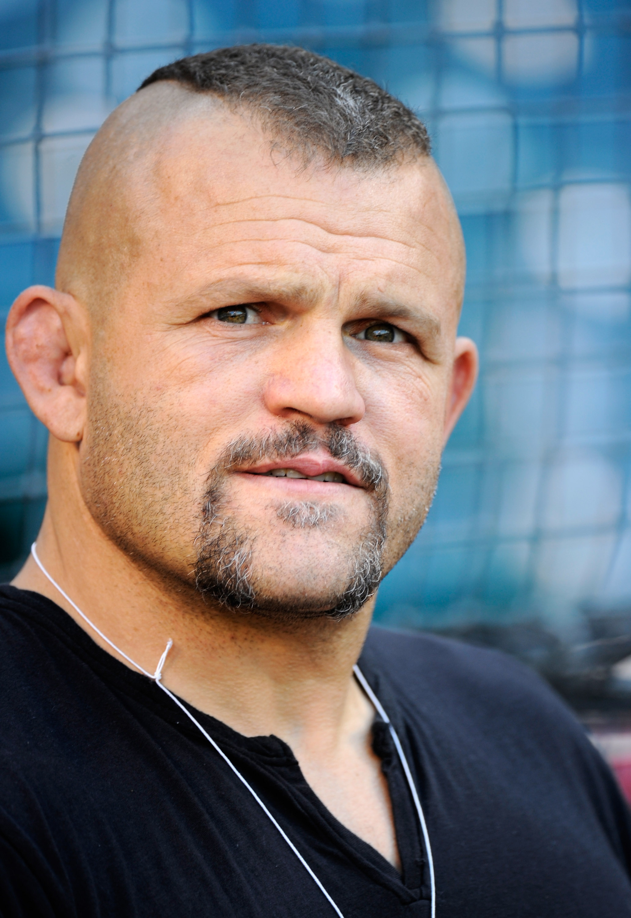 ANAHEIM, CA - MAY 25:  Chuck Liddell, the American mixed martial artist and former Ultimate Fighting Championship light heavyweight champion, attends the baseball game between the Oakland Athletics and the Los Angeles Angels of Anaheim at Angel Stadium of