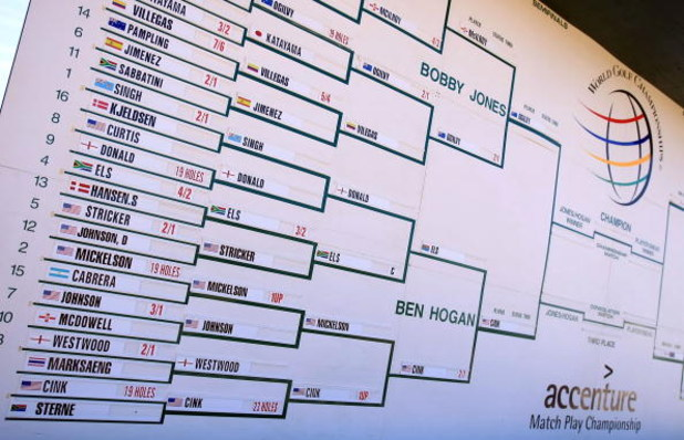 MARANA, AZ - FEBRUARY 28:  The brackets as seen during the semifinals of the Accenture Match Play Championship at the Ritz-Carlton Golf Club at Dove Mountain on February 28, 2009 in Marana, Arizona.  (Photo by Scott Halleran/Getty Images)