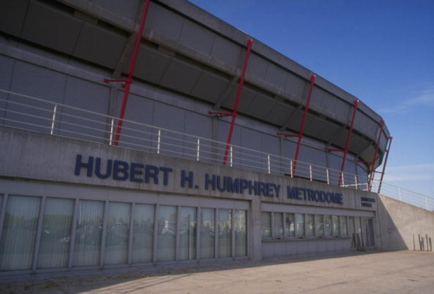 MINNEAPOLIS, MN -1992:  General view of the Hubert H. Humphrey Metrodome in Minneapolis Minnesota. (Photo by Jonathan Daniel/Getty Images)