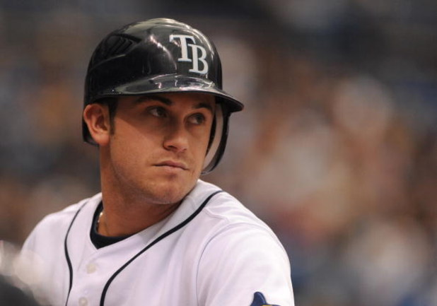 ST. PETERSBURG, FL - APRIL 19: Infielder Evan Longoria #3 of the Tampa Bay Rays sets to bat against the Chicago White Sox April 19, 2009 at Tropicana Field in St. Petersburg, Florida.  (Photo by Al Messerschmidt/Getty Images)