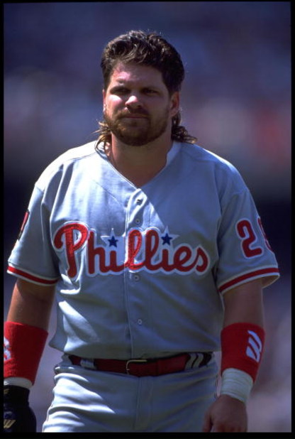 3 Jul 1993: A PORTRAIT OF JOHN KRUK, FIRST BASEMAN FOR THE PHILADELPHIA PHILLIES, DURING THEIR GAME AGAINST THE LOS ANGELES DODGERS AT DODGER STADIUM IN LOS ANGELES, CALIFORNIA.