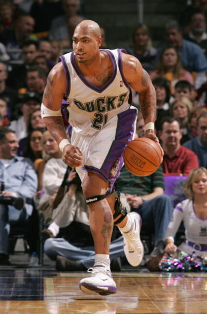 MILWAUKEE, WI - DECEMBER 28:  Marcus Fizer #21 of the Milwaukee Bucks moves the ball upcourt during the game against the Houston Rockets on December 28, 2004 at Bradley Center in Milwaukee, Wisconsin. The Bucks defeated the Rockets 115-87. NOTE TO USER: U