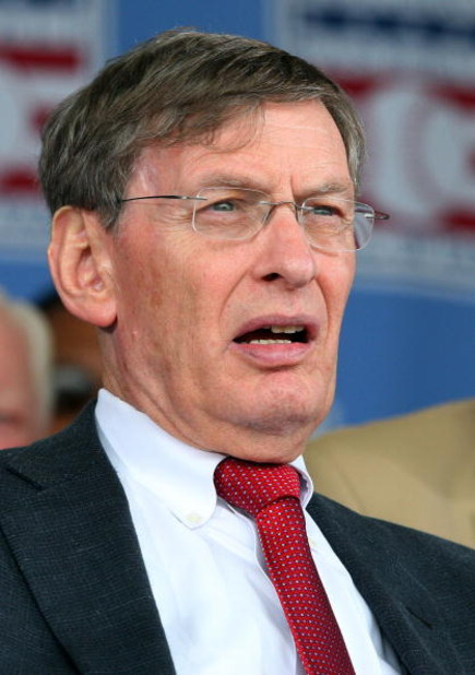 COOPERSTOWN, NY - JULY 26:  MLB commissioner Bud Selig looks on at Clark Sports Center during the 2009  Baseball Hall of Fame induction ceremony on July 26, 2009 in Cooperstown, New York.  (Photo by Jim McIsaac/Getty Images)