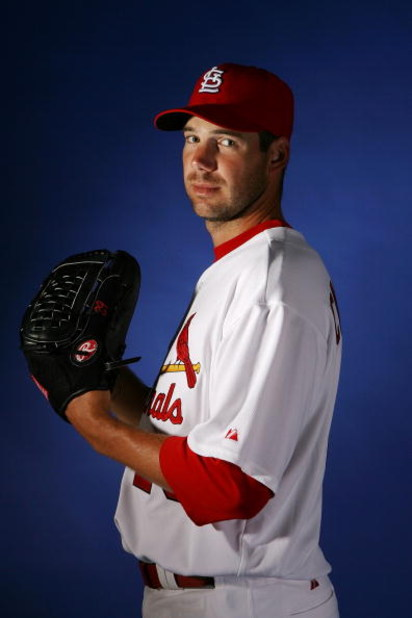 JUPITER, FL - FEBRUARY 26:  Chris Carpenter #29 of the St. Louis Cardinals during photo day at Roger Dean Stadium on February 26, 2008 in Jupiter, Florida.  (Photo by Doug Benc/Getty Images)