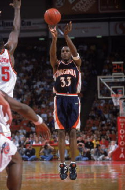 3 Mar 2001:  Chris Williams #33 of the Virginia Cavaliers takes a jump shot during the game against the Maryland Terrapins at the College Fieldhouse in College Park, Maryland.  The Terrapins defeated the Cavaliers 102-67.Mandatory Credit: Doug Pensinger