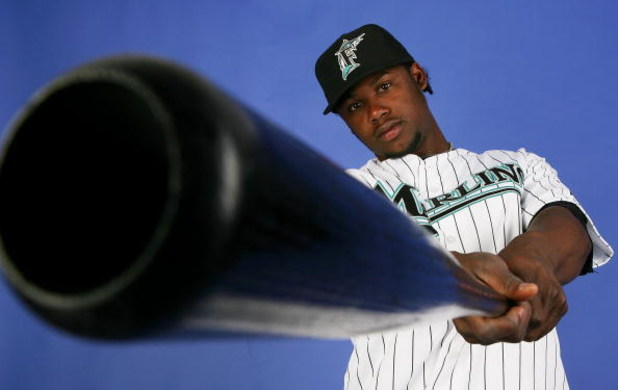 JUPITER, FL - FEBRUARY 22:  Hanley Ramirez #2 of the Florida Marlins poses during photo day at Roger Dean Stadium February 22, 2009 in Jupiter, Florida.  (Photo by Doug Benc/Getty Images)