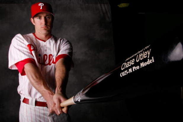 CLEARWATER, FL - FEBRUARY 20:  Chase Utley #26 of the Philadelphia Phillies poses for a photo during Spring Training Photo day on February 20, 2009 at Bright House Networks Field in Clearwater, Florida.  (Photo by Chris Graythen/Getty Images)