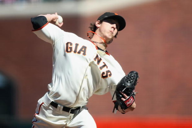 SAN FRANCISCO - JULY 3:  Tim Lincecum #55 of the San Francisco Giants pitches against the Chicago Cubs during a Major League Baseball game on July 3, 2008 at AT&T Park in San Francisco, California. (Photo by: Jed Jacobsohn/Getty Images)