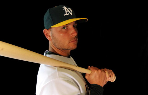 PHOENIX - FEBRUARY 22:  Matt Holliday of the Oakland Athletics poses during photo day at the Athletics spring training complex February 22, 2009 in Phoenix, Arizona.  (Photo by Ronald Martinez/Getty Images)