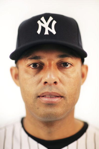 TAMPA, FL - FEBRUARY 19:  (EDITOR'S NOTE: IMAGES HAVE BEEN DIGITALLY DESATURATED) Mariano Rivera #42 of the New York Yankees poses during Photo Day on February 19, 2009 at George M. Steinbrenner Field in Tampa, Florida.  (Photo by Nick Laham/Getty Images)