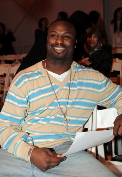 NEW YORK - FEBRUARY 04:  Bart Scott #57 of the Baltimore Ravens attends the R. Scott French 2008 fashion show during Mercedes-Benz Fashion Week Fall 2008 on February 4, 2008 in New York City.  (Photo by Brad Barket/Getty Images for R. Scott French)