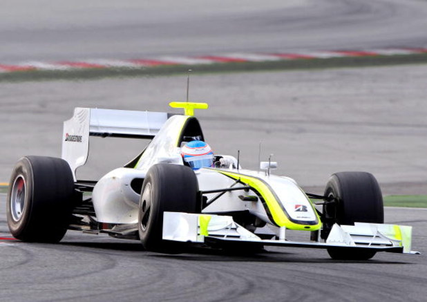 BARCELONA, SPAIN - MARCH 09:  Jenson Button of Great Britain and Brawn GP in action during formula one testing at the Circuit de Catalunya on March 9, 2009 in Barcelona, Spain.  (Photo by Jasper Juinen/Getty Images)
