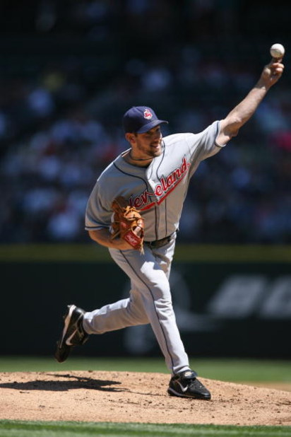 SEATTLE - JULY 20:  Cliff Lee #31 of the Cleveland Indians pitches against the Seattle Mariners on July 20, 2008 at Safeco Field in Seattle, Washington. The Indians defeated the Mariners 6-2. (Photo by Otto Greule Jr/Getty Images)