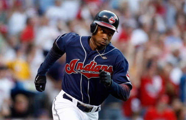 CLEVELAND - OCTOBER 05:  Kenny Lofton #7 of the Cleveland Indians runs to first base against the New York Yankees during Game Two of the American League Divisional Series at Jacobs Field on October 5, 2007 in Cleveland, Ohio.  (Photo by Gregory Shamus/Get