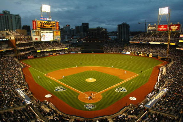 SAN DIEGO - APRIL 7: General view of the interior of Petco Park during action between the Pittsburgh Pirates and the San Diego Padres on April 7, 2005 at Petco Park in San Diego, California. (Photo by Christian Petersen/Getty Images)