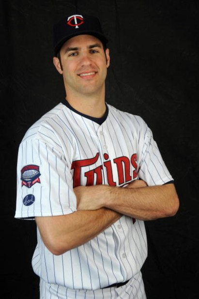 FORT MYERS, FLORIDA - FEBRUARY 23: Joe Mauer #7 of the Minnesota Twins poses during photo day at the Twins spring training complex February 23, 2008 in Fort Myers, Florida. (Photo by Rob Tringali/Getty Images)