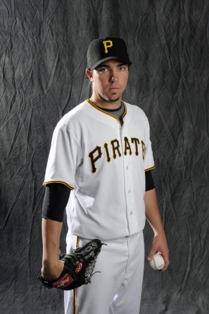 BRADENTON, FL - FEBRUARY 22: Sean Burnett #17 of the Pittsburgh Pirates poses during photo day at the Pirates spring training complex on February 22, 2009 in Bradenton, Florida. (Photo by Rob Tringali/Getty Images)