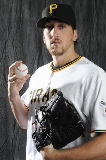 BRADENTON, FL - FEBRUARY 22: Craig Hansen #38 of the Pittsburgh Pirates poses during photo day at the Pirates spring training complex on February 22, 2009 in Bradenton, Florida. (Photo by Rob Tringali/Getty Images)
