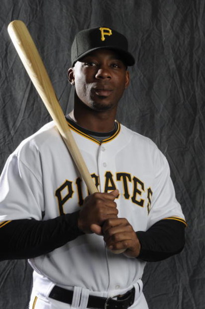 BRADENTON, FL - FEBRUARY 22: Craig Monroe #18 of the Pittsburgh Pirates poses during photo day at the Pirates spring training complex on February 22, 2009 in Bradenton, Florida. (Photo by Rob Tringali/Getty Images)