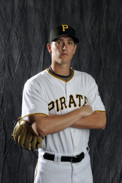 BRADENTON, FL - FEBRUARY 22: Jimmy Barthmaier #46 of the Pittsburgh Pirates poses during photo day at the Pirates spring training complex on February 22, 2009 in Bradenton, Florida. (Photo by Rob Tringali/Getty Images)