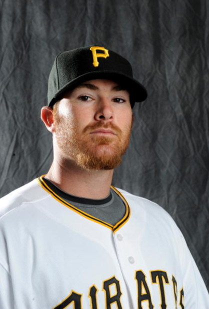 BRADENTON, FLORIDA - FEBRUARY 22: Ryan Doumit #41 of the Pittsburgh Pirates poses during photo day at the Pirates spring training complex on February 22, 2008 in Bradenton, Florida. (Photo by Rob Tringali/Getty Images)