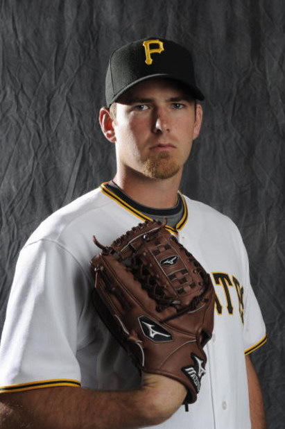 BRADENTON, FL - FEBRUARY 22: Zach Duke #57 of the Pittsburgh Pirates poses during photo day at the Pirates spring training complex on February 22, 2009 in Bradenton, Florida. (Photo by Rob Tringali/Getty Images)