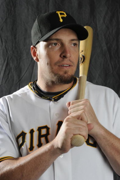 BRADENTON, FL - FEBRUARY 22: Eric Hinske #16 of the Pittsburgh Pirates poses during photo day at the Pirates spring training complex on February 22, 2009 in Bradenton, Florida. (Photo by Rob Tringali/Getty Images)