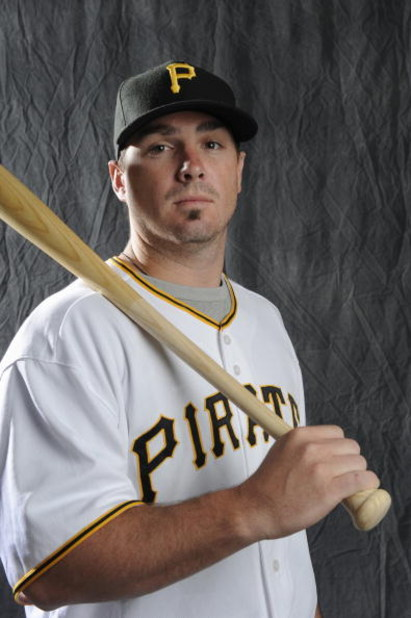 BRADENTON, FL - FEBRUARY 22: Andy Laroche #15 of the Pittsburgh Pirates poses during photo day at the Pirates spring training complex on February 22, 2009 in Bradenton, Florida. (Photo by Rob Tringali/Getty Images)