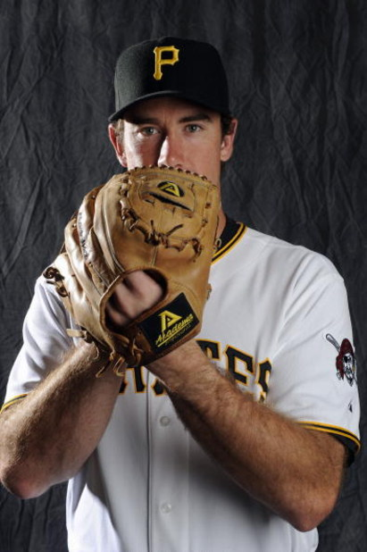 BRADENTON, FL - FEBRUARY 22: Ross Ohlendorf #49 of the Pittsburgh Pirates poses during photo day at the Pirates spring training complex on February 22, 2009 in Bradenton, Florida. (Photo by Rob Tringali/Getty Images)