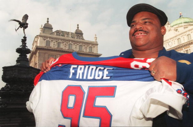 18 Mar 1996:  William ''The Refrigerator'' Perry arrives in London in preparation for his debut for the London Monarchs against the Scottish Claymores on April 14 in the World League of American Football. Mandatory Credit: Gary M. Prior/ALLSPORT
