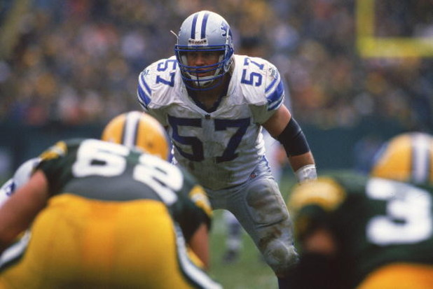 21 Nov 1999:  Stephen Boyd #57 of the Detriot Lions is ready during the game against the Green Bay Packers at Lambeau Field in Green Bay, Wisconsin. The Packers defeated the Lions 26-17. Mandatory Credit: Ezra O. Shaw  /Allsport