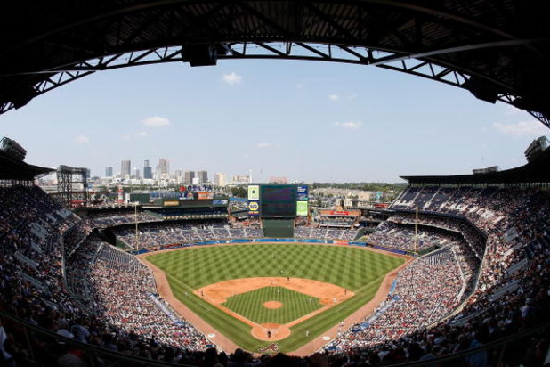ATLANTA - SEPTEMBER 03:  A general view of the Turner Field as the Atlanta Braves play the Philadelphia Phillies on September 3, 2007 at Turner Field in Atlanta, Georgia. The Braves defeated the Phillies 5-1.   (Photo by Chris Graythen/Getty Images)