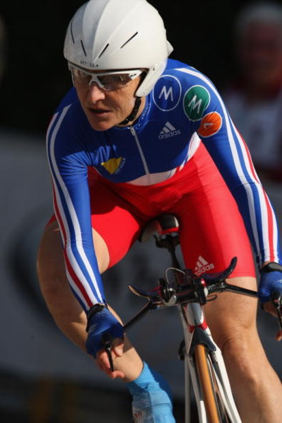 VARESE, ITALY - SEPTEMBER 24:  Jeannie Longo-Ciprelli of France in action in the Elite Women's Time Trial during the 2008 UCI Road World Championships on September 24, 2008 in Varese, Italy.  (Photo by Bryn Lennon/Getty Images)
