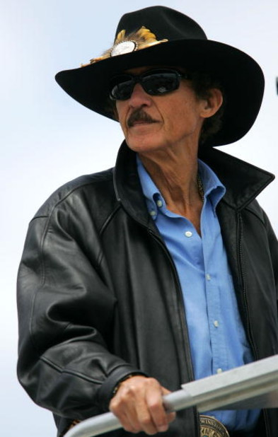 RICHMOND, VA - MAY 04:  Former NASCAR Champion Richard Petty watches practice for the NASCAR Nextel Cup Series Jim Stewart 400 at Richmond International Raceway on May 4, 2007 in Richmond, Virginia.  (Photo by Chris Trotman/Getty Images for NASCAR)