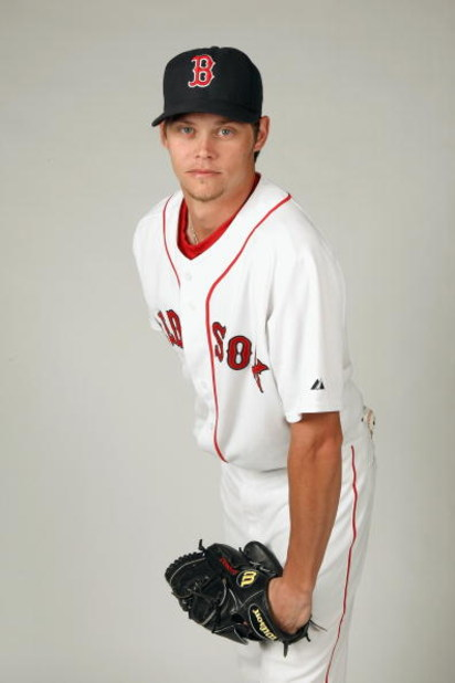 FORT MYERS,FLORIDA - FEBRUARY 22:  Clay Buchholz #61 of the Boston Red Sox poses during photo day at the Red Sox spring training complex on February 22, 2009 in Fort Myers, Florida. (Photo by: Nick Laham/Getty Images)