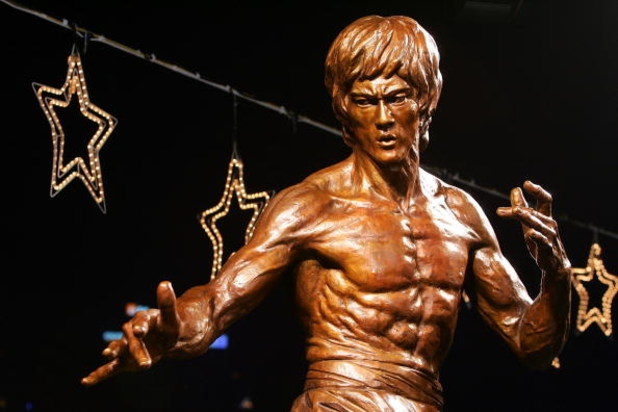 HONG KONG - NOVEMBER 27: A bronze statue of late martial arts legend and movie superstar Bruce Lee is seen after an unveiling ceremony at the Avenue of Stars on November 27, 2005 in Hong Kong, China. The ceremony is part of the Bruce Lee Festival to celeb