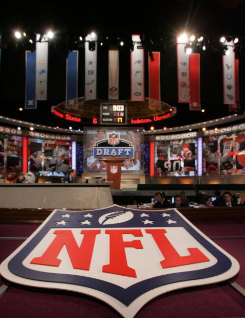 NEW YORK - APRIL 26:  A general view shows the stage during the during the 2008 NFL Draft on April 26, 2008 at Radio City Music Hall in New York, New York.  (Photo by Jim McIsaac/Getty Images)
