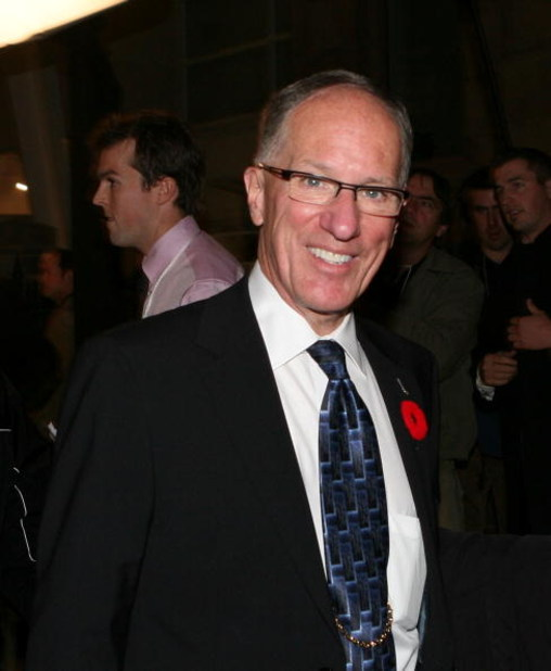 TORONTO, ON - NOVEMBER 10: Mike Emrick, the Foster Hewitt Memorial Award winner arrives at the 2008 Hall of Fame Induction ceremony on November 10, 2008 at the Hockey Hall of Fame in Toronto, Ontario, Canada. (Photo by Bruce Bennett/Getty Images)