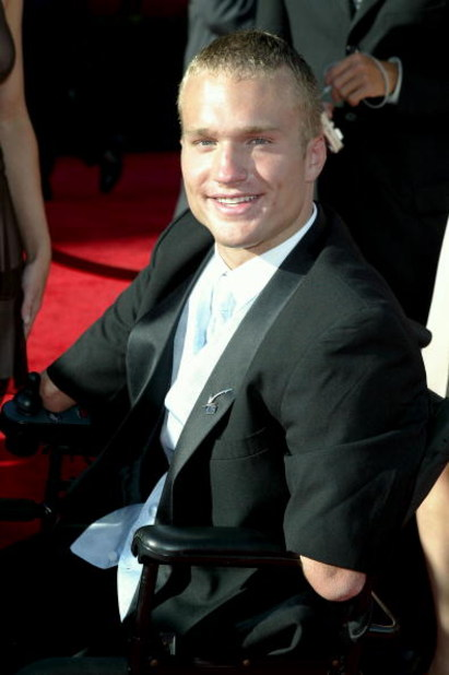 HOLLYWOOD - JULY 14:  Wrestler Kyle Maynard attends the 12th Annual ESPY Awards held at the Kodak Theatre on July 14, 2004 in Hollywood, California.  This year's ESPY's will air Sunday, July 16th on ESPN beginning 9 PM EST/6 PM EST.  (Photo by Frazer Harr