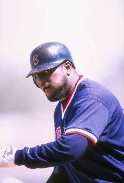 5 Mar 1998:  Infielder Mo Vaughn of the Boston Red Sox in action during a spring training game against the Cleveland Indians at the Chain of Lakes Park in Winter Haven, Florida. The Red Sox defeated the Indians 10-9. Mandatory Credit: Craig Melvin  /Allsp