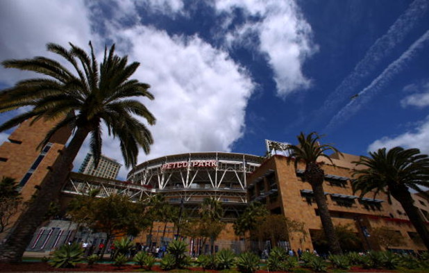 SAN DIEGO, CA- APRIL 9:  A general view of the exterior of Petco Park before the start of the Los Angeles Dodgers against the San Diego Padres MLB game on April 9, 2009 at Petco Park in San Diego, California. (Photo by Donald Miralle/Getty Images)