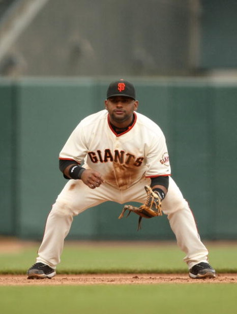 SAN FRANCISCO - MAY 02:  Pablo Sandoval #48 of the San Francisco Giants waits in the ready position during their game against the Colorado Rockies on May 2, 2009 at AT&T Park in San Francisco, California.  (Photo by Ezra Shaw/Getty Images)