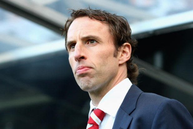 NEWCASTLE, UNITED KINGDOM - MAY 11:  Middlesbrough Manager Gareth Southgate looks on prior to the Barclays Premier League match between Newcastle United and Middlesbrough at St James' Park on May 11, 2009 in Newcastle, England.  (Photo by Laurence Griffit