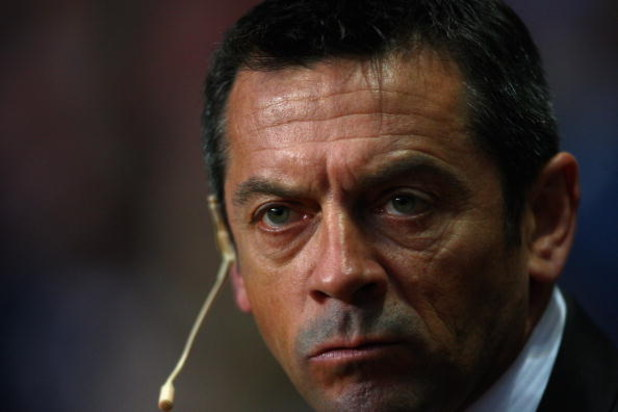 BIRMINGHAM, ENGLAND - MAY 04:  Hull City Manager Phil Brown looks on prior to the Barclays Premier League match between Aston Villa and Hull City at Villa Park on May 4, 2009 in Birmingham, England.  (Photo by Jamie McDonald/Getty Images)