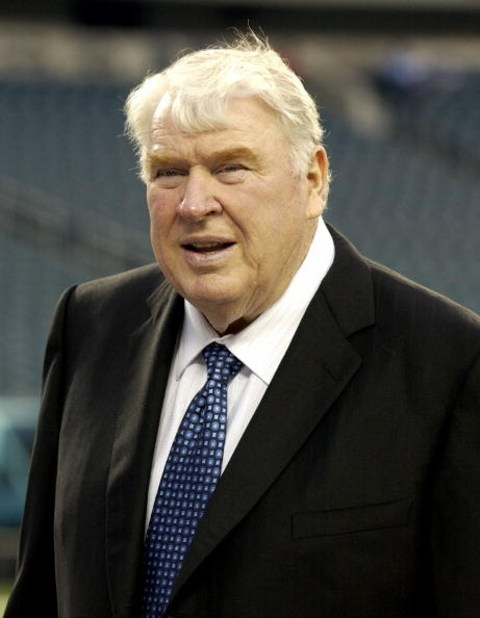ABC-TV announcer John Madden watches pregame warmups   September 8, 2003 at Lincoln Financial Field in Philadelphia.  The Bucs defeated the Eagles 17 - 0 to open the season on Monday Night football.  (Photo by Al Messerschmidt/Getty Images)