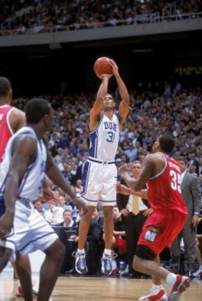 10 Mar 2001:  Shane Battier #31 of the Duke Blue Devils looks on the court during the ACC Tournament against the  Maryland Terrapins  at the Georgia Dome in Atlanta, Georgia. The Blue Devils defeated the Terrapins 84-82.Mandatory Credit: Craig Jones  /All